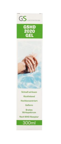 GSHD 2020 GEL Hand- und Hautdesinfektion 300ml in der praktischen Press & Splash Flasche